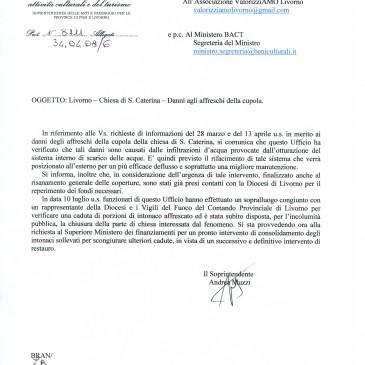 S. Caterina: La risposta del Soprintendente